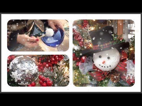 Diy 2 Simple Snowball Varieties For A Snowman Wreath