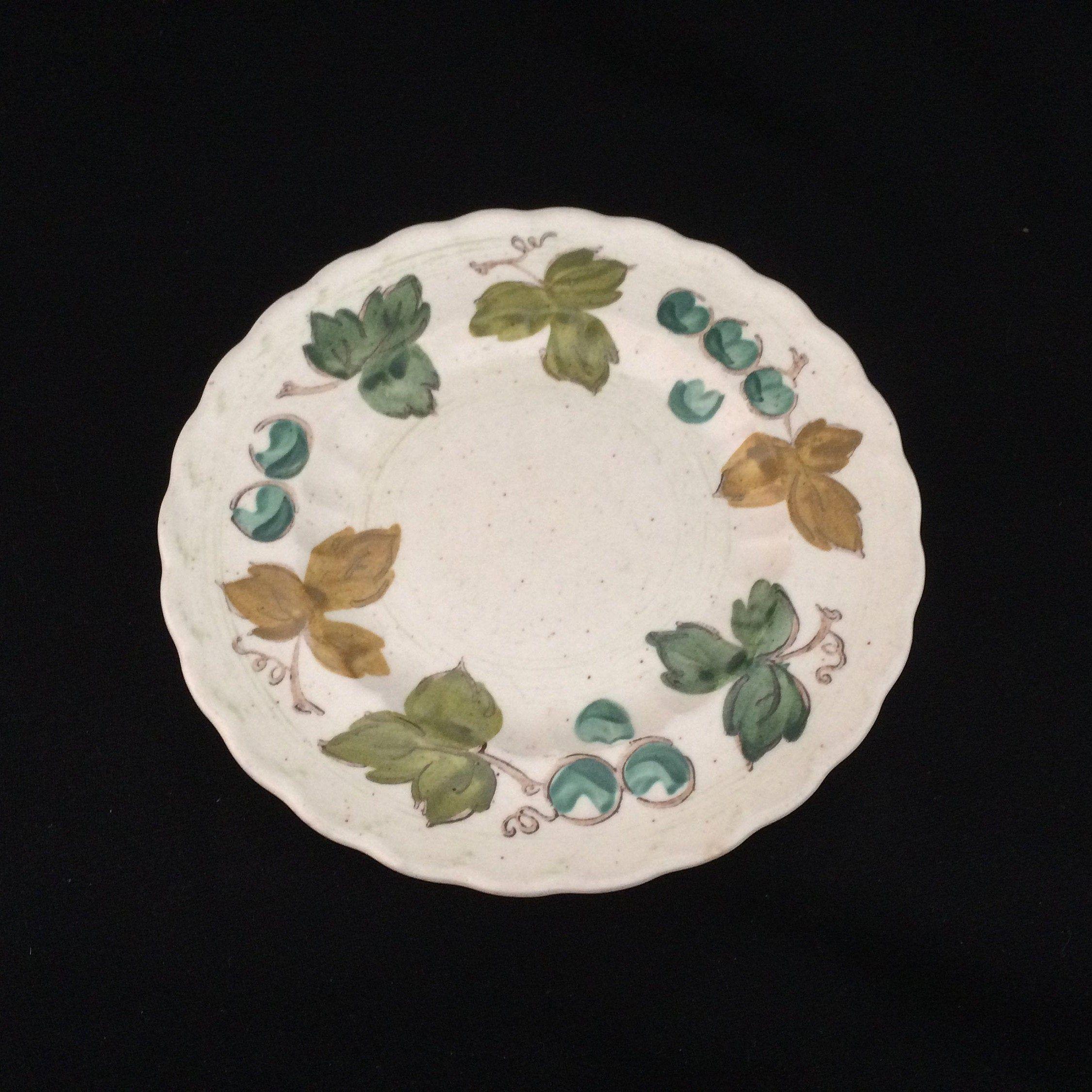 Metlox Vineyard Bread Butter Plate Vintage California Pottery