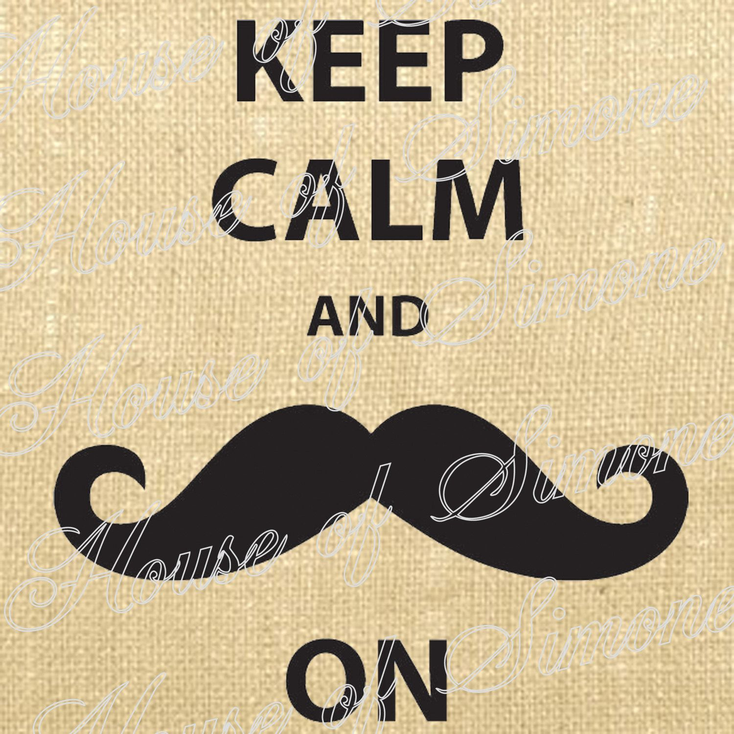 Moustache Keep Calm and Carry On English Download Graphic Image Art ...