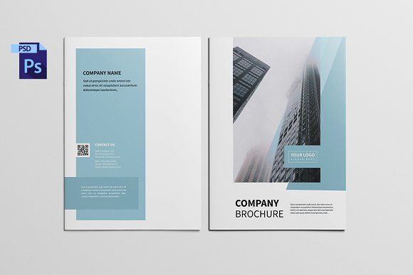 Company Profile Brochure BROCHURE MODERN PSD CATALOGS CORPORATE - company profile templates