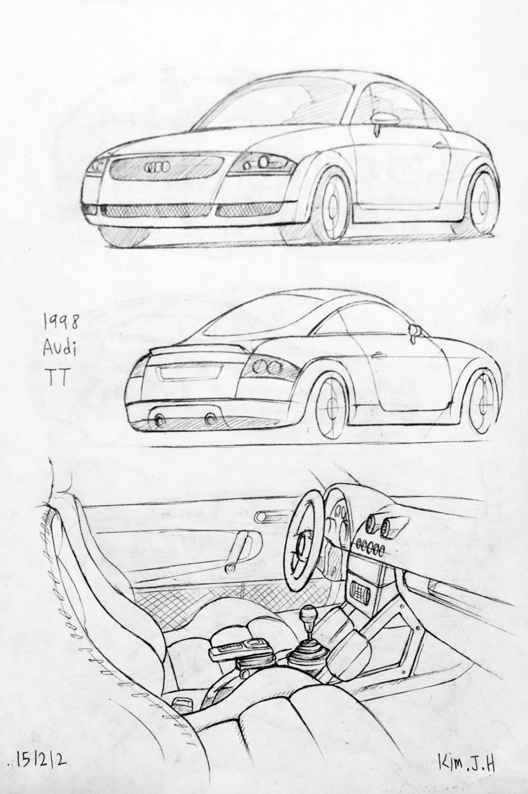 Car drawing 151212 1998 Audi TT Prisma on paper. Kim.J.H | cars ...