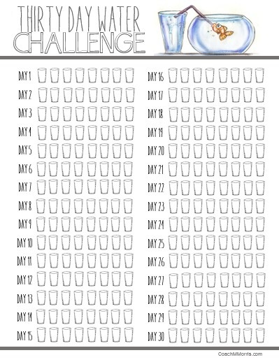 day water challenge printable also meal prepping planning rh pinterest