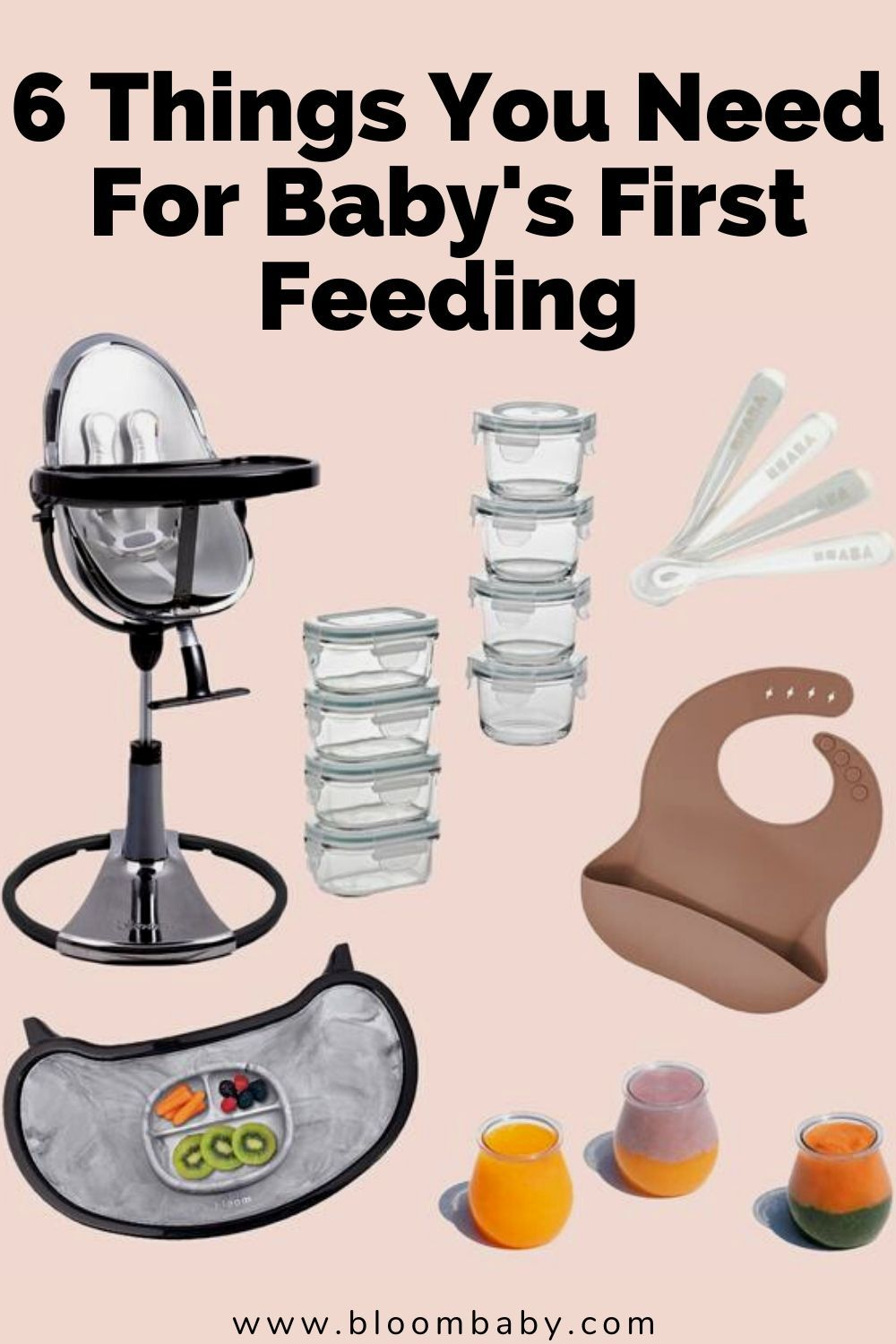 6 Things You Need For Baby S First Feeding Baby Needs Feeding Kids Modern Baby Furniture