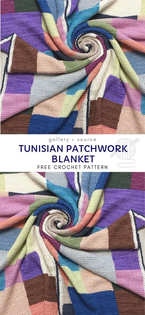 Colorful Tunisian Crochet Blankets #tunisiancrochet