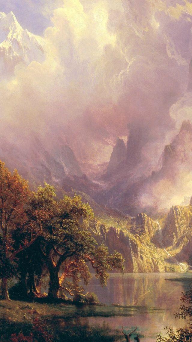 Albert Bierstadt Classic Painting Art Iphone Wallpapers