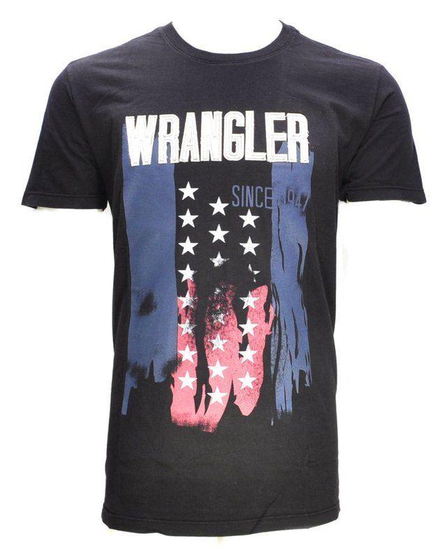 b86e8b95e1 Camiseta Antique Preta 71G22P59 - Wrangler