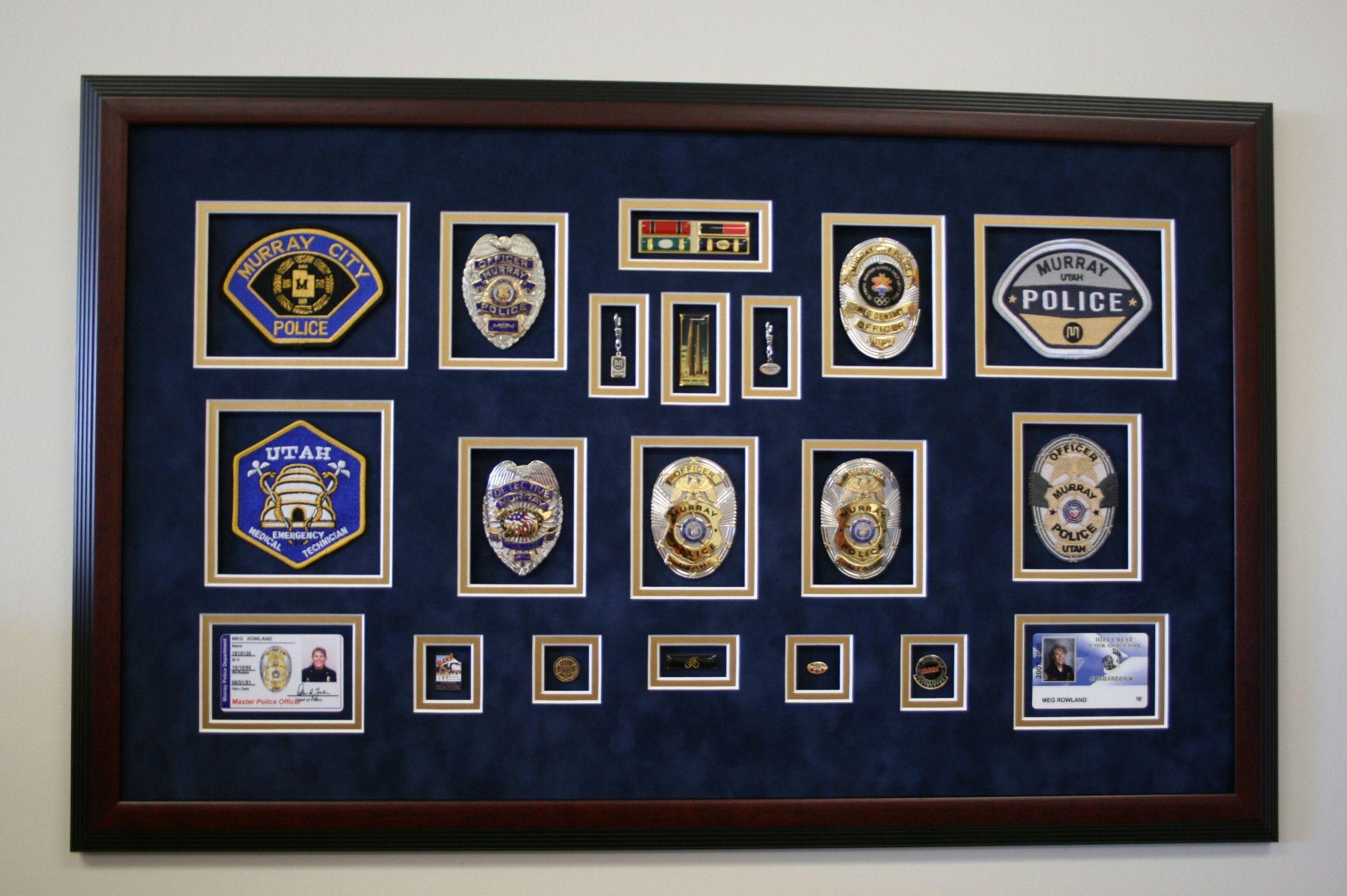 Custom frame badges as a lovely retirement gift for the police custom frame badges as a lovely retirement gift for the police officer in your life jeuxipadfo Choice Image