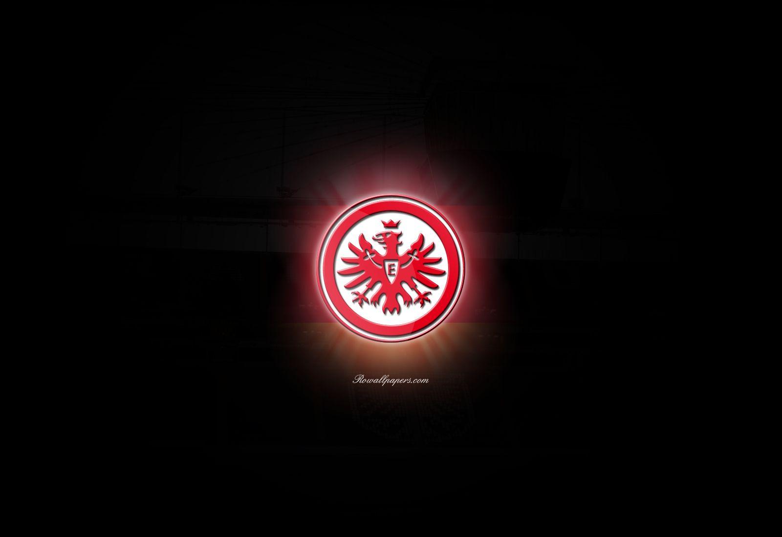 Eintracht Frankfurt Logo Sport Wallpaper Black 8516 Wallpaper