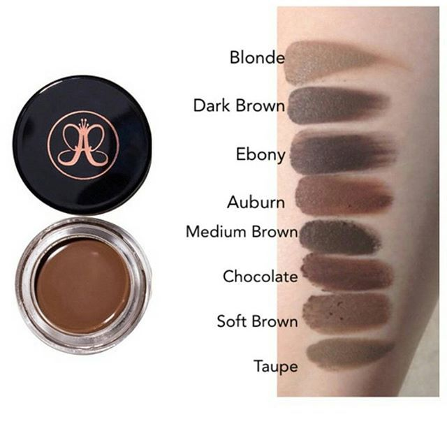 Anastasia Beverly Hills Dipbrow Pomade swatches | brows | Pinterest ...