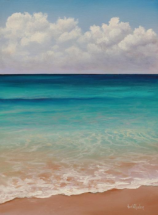 Painting By Eve Wheeler Lovely Beach Ocean Painting Beach
