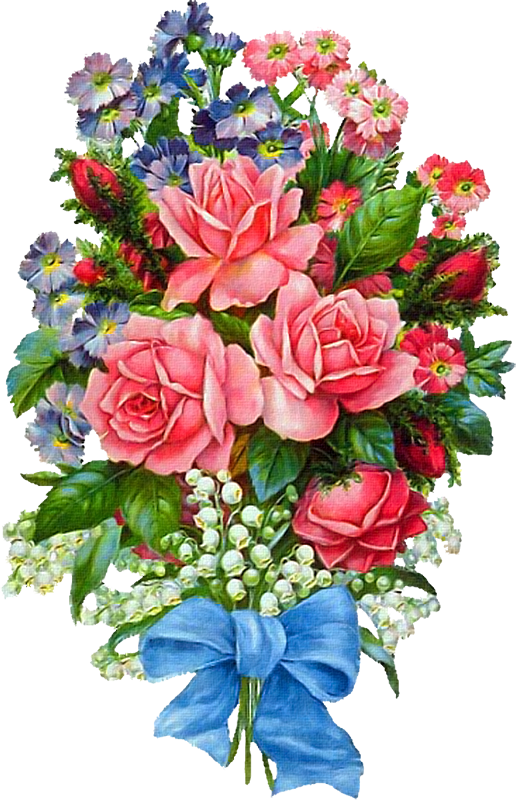 Открытка с цветами на форум