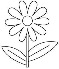 dibujos de flores para colorear infantiles preciosas   draw