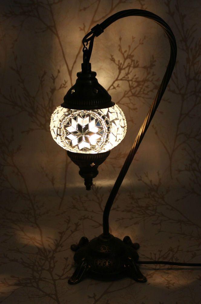 multicolore turque marocain mosa que lampe de table abat jour fait main petit luminaires. Black Bedroom Furniture Sets. Home Design Ideas