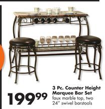 Counter Height Marquee 3 Piece Bar Set From Big Lots 199 99 Bar Set Wine Glass Gift Basket Big Lots