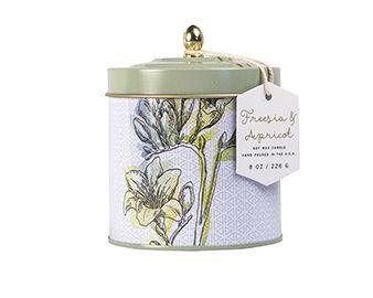 Freesia Apricot Tin Candle Flower Market Paddywax Tin Candles Soy Wax Candles Paddywax
