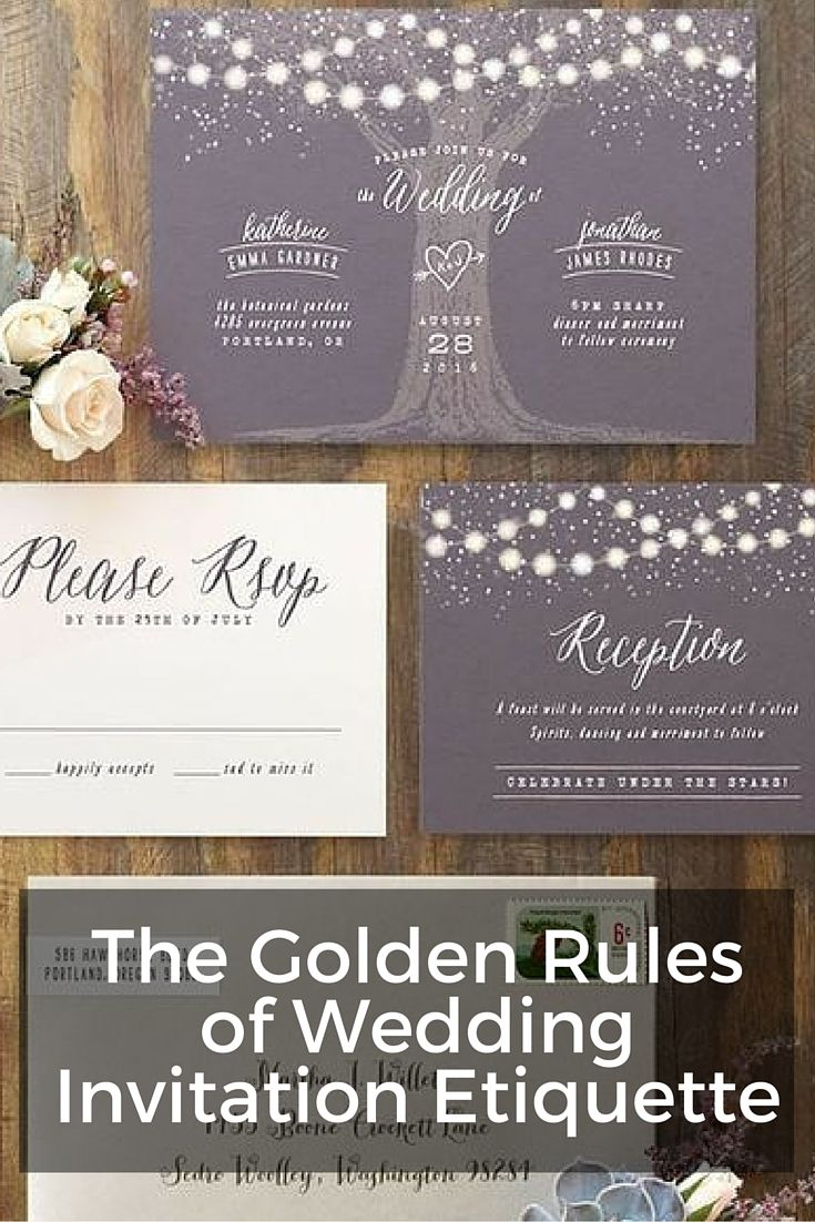 Wedding invitation etiquette wedding pinterest for Wedding invitation etiquette grandparents