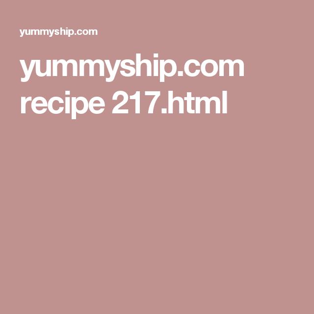 yummyship.com recipe 217.html
