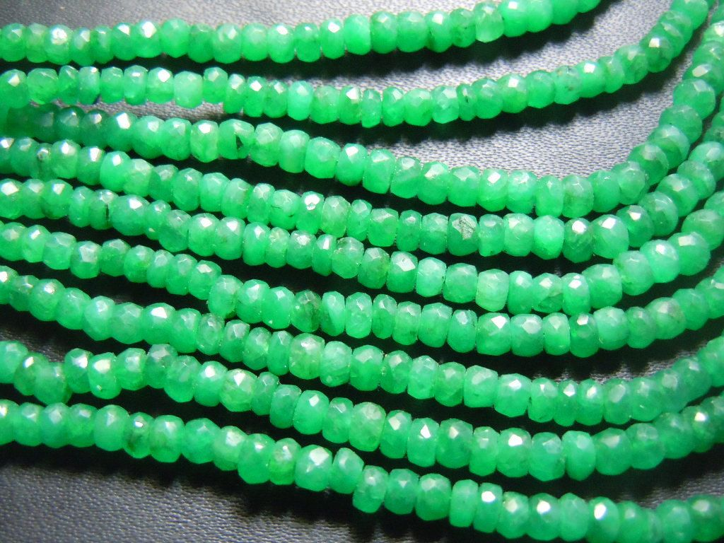 Full necklace strands to inches top quality dyed emerald