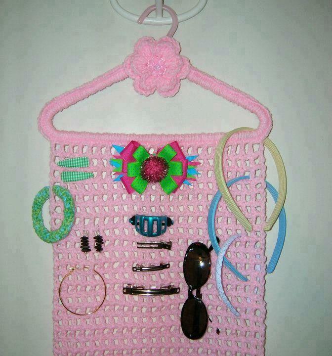 Porta mo os y diademas para ni a en gancho tejido a - Diademas a crochet ...