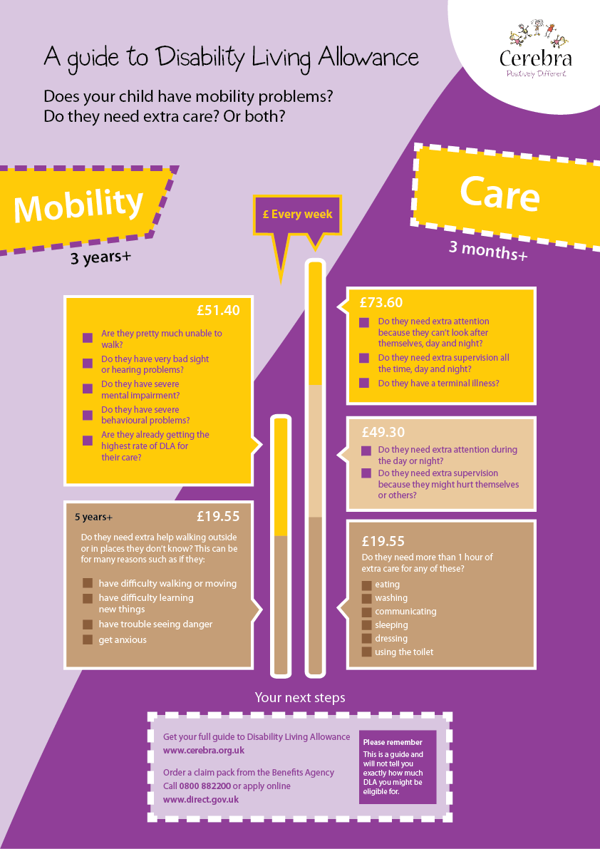 Disability Living Allowance Infographic