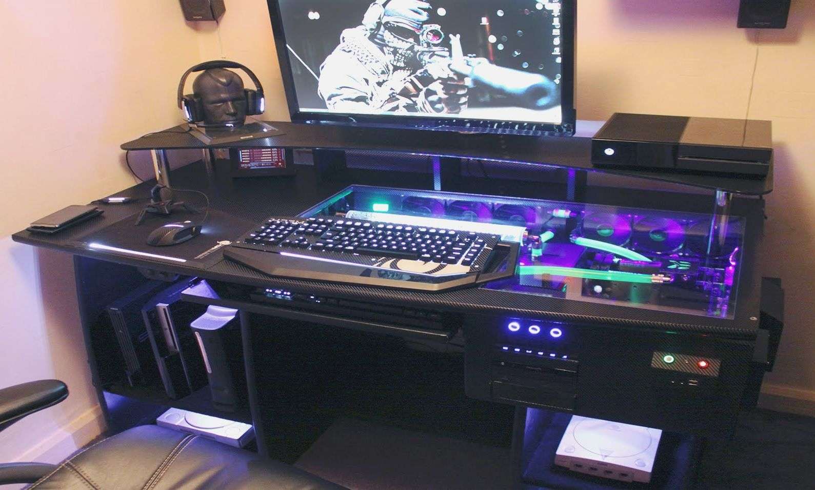 Desk Computer Case Ultimate Gaming Pc Custom Desk Build Log Youtube Hd Wallpaper Frsh Gaming Computer Desk Custom Computer Desk Computer Desk Plans