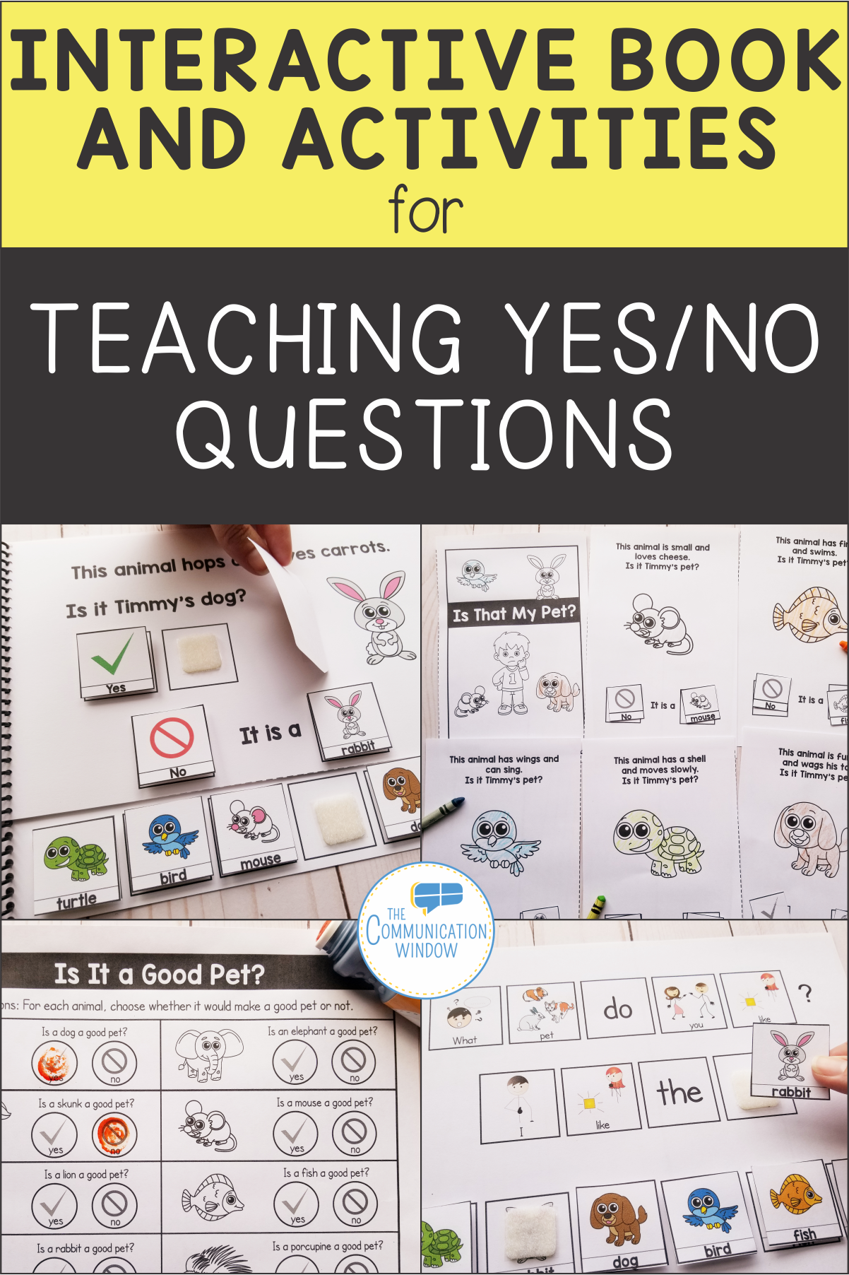 Pets Interactive Book For Yes No Questions In