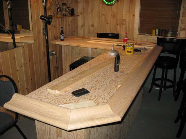 Oak Bar Top Basement Remodeling Rustic Basement Bar Small Basement Bars