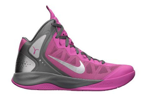 nike neon pink basketball shoes | Nike Zoom Hyperenforcer PE ...