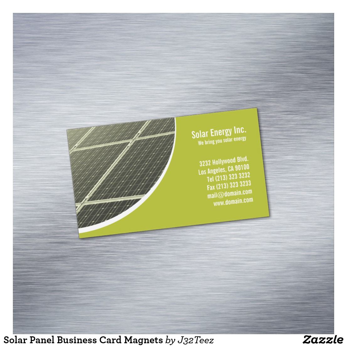 Solar Panel Business Card Magnets | Business cards, Card templates ...