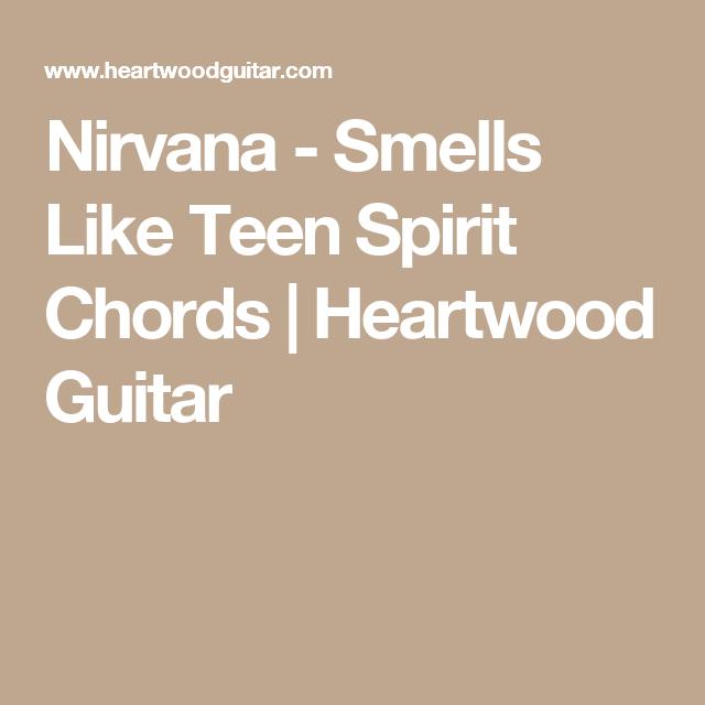 Nirvana - Smells Like Teen Spirit Chords | Heartwood Guitar ...