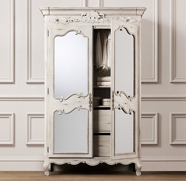 rh baby child s adelaide armoire designed to mix and match with other furnishings for an eclectic look our armoire highlights the artistry of an antique