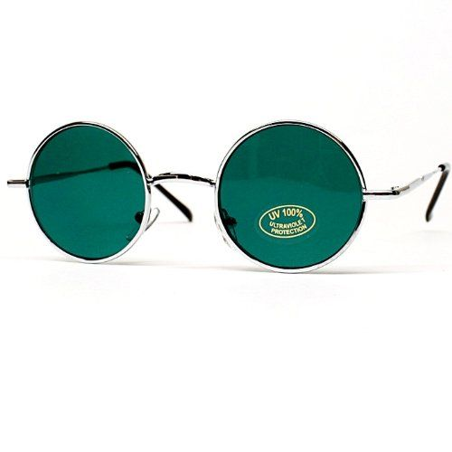 59f8bab8e6 ( 9.95) Small Size Round Circle Vintage Retro Colored Lens Sunglasses Mens  Womens V106 From Style Vault