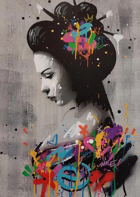 Portrait Picture Canvas Painting Figure Wall Art Graffiti