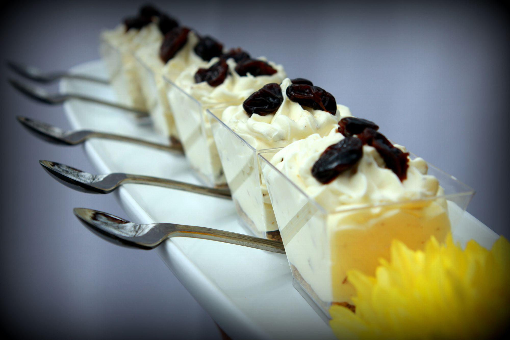 Dessert menu options desserts mini pastries