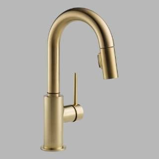 Delta 9959 CZ DST Trinsic Single Handle Pull Down Bar/Prep Faucet In  Champagne Bronze Priced At $343.77 At Homeclick.com.