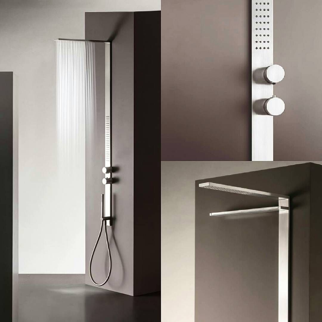 Thin, simple and ultimate are the results  of a new #shower system designed by Franco Sargiani: #MilanoSlim.   The 60mm pattern is the common #design feature that is shared with the Milano collection.