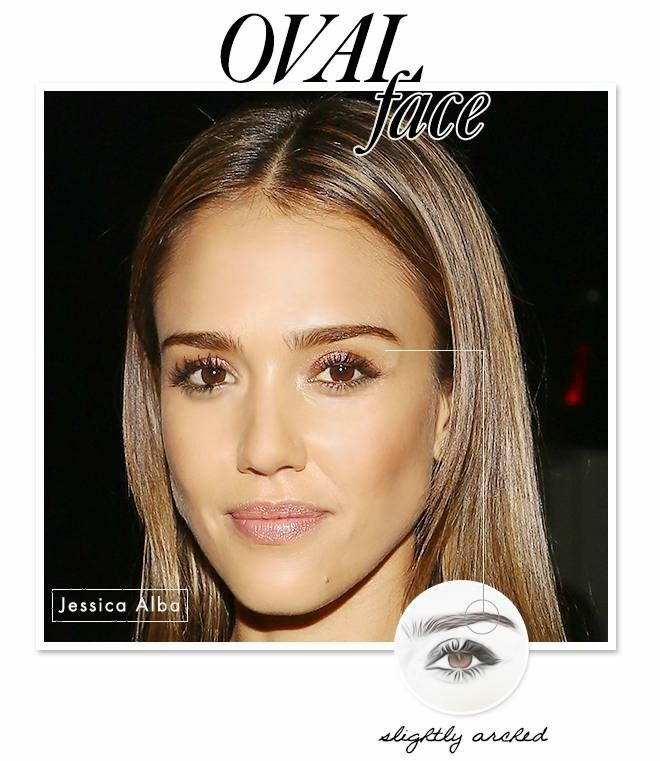 Eyebrow Shapes For Oval Faces Create Eyebrow Shape With Celebrity