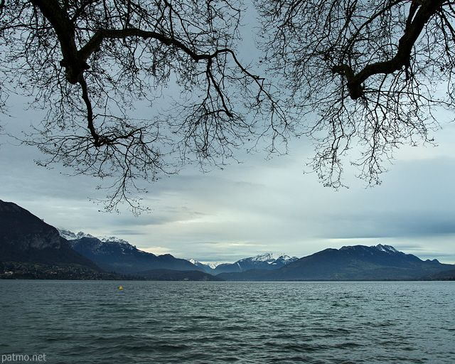 Annecy An Autumn Day At The Lake France Haute Savoie Department