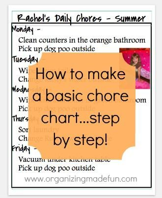 Get Your Kids Organized Page Full Of Kids Schedules And Chore