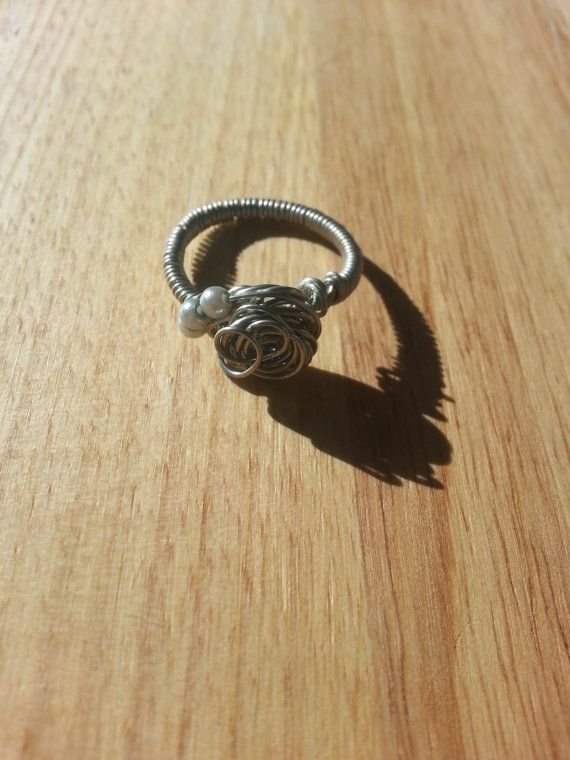 Silver filled wire wrapped knot ring with by AmandasWiredTrinkets, $10.00