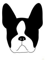 Geeeeee Boston Outline Dibujos De Perros Silueta De Perro Dibujo De Perro