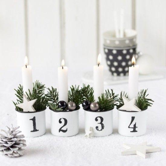90 skandinavische Weihnachtsdeko Ideen für ein ultimatives Hygge-Feeling zu Hause #adventskranzskandinavisch
