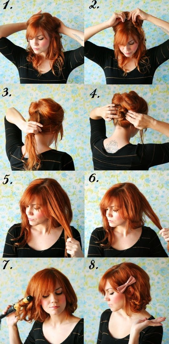 Curly hair ~ DIY Everyday Hairstyles School Step by step ~ I love ...