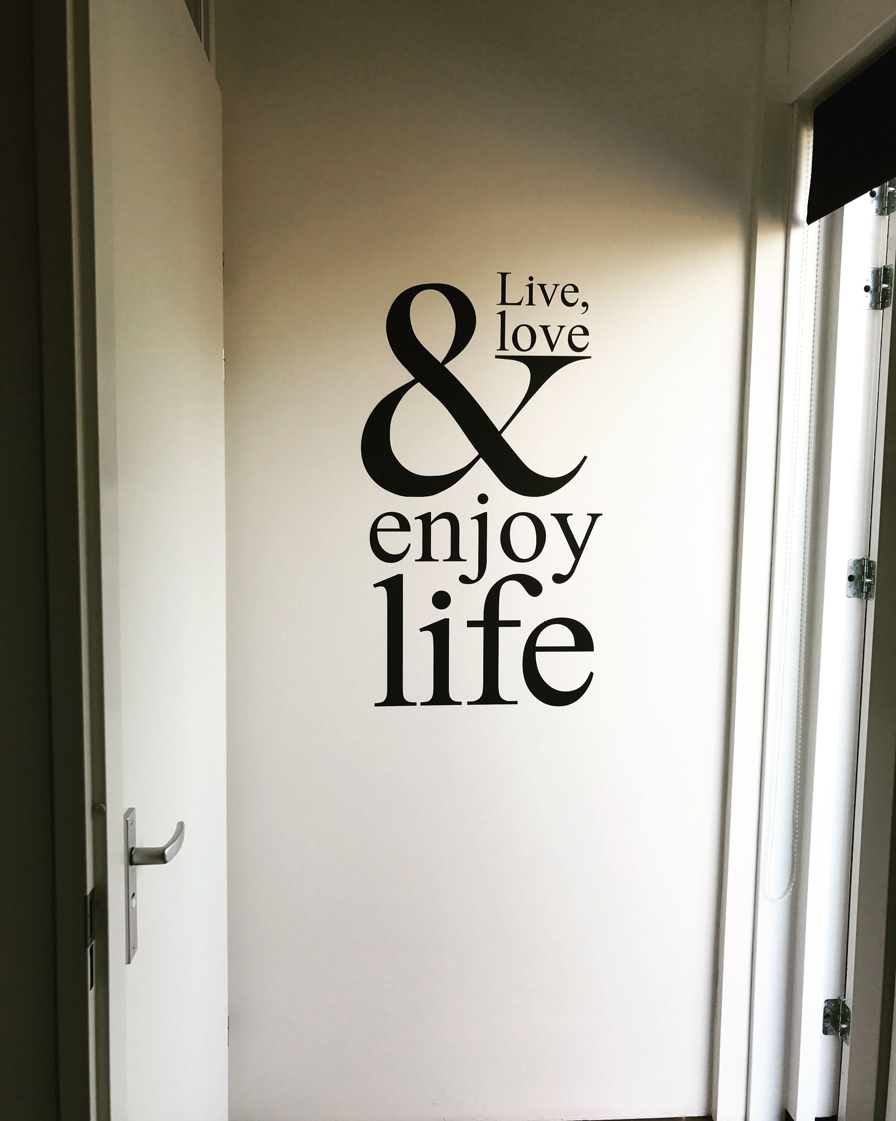 Muurstickers Slaapkamer Love.Muursticker Live Love Enjoy Life Leuk Voor Bv Een Woonkamer