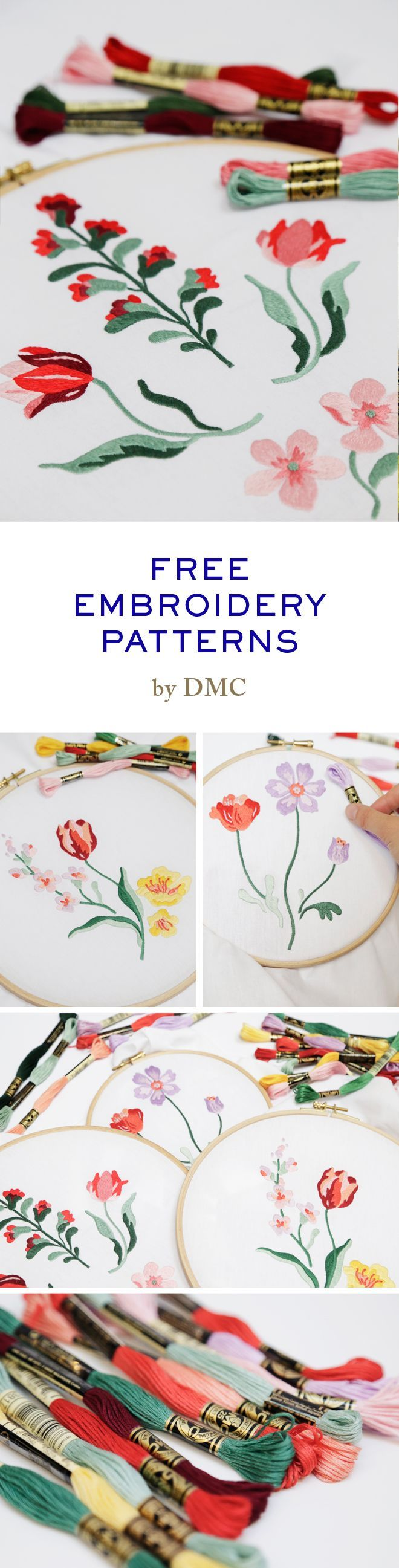 Free embroidery patterns on the website | Bordados | Pinterest ...