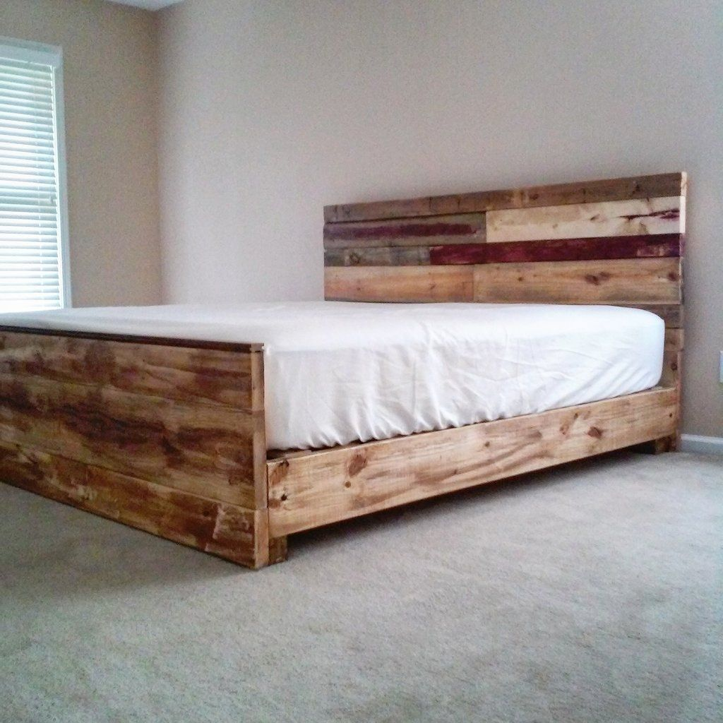 The Sydney reclaimed bed in Platform Diy bed frame
