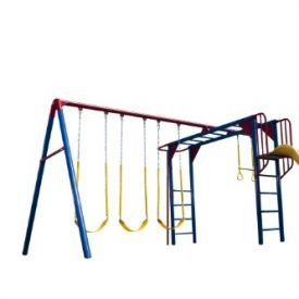 The Heavy Duty Lifetime Monkey Bar Adventure Swing Set Includes 3