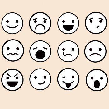 Dibujos de caras de emociones para colorear con los nios  Dibujo