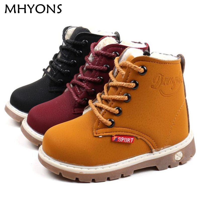 Mhyons Child Snow Boots Shoes For Girls Boys Boots Fashion Soft Bottom Baby Girls Boot 21 30 Autumn Winter Child Girls Snow Boots Girls Boots Kids Girls Boots