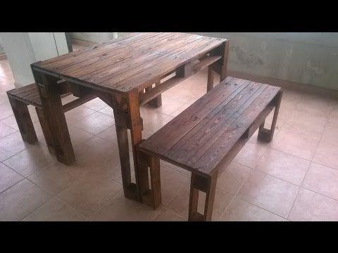 Costruire Una Credenza Con I Pallet : Costruire un tavolo con i pallets table made from